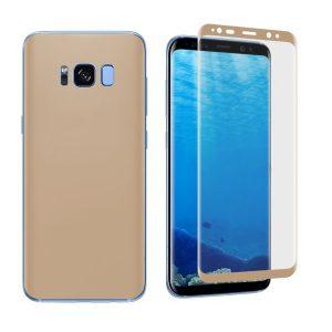 Защитная пленка 3D (на перед) для Samsung G950F Galaxy S8 (Gold)