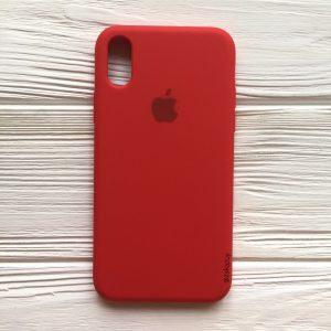 Оригинальный силиконовый чехол (Silicone case) для Iphone X / XS (Red) №5