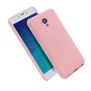 Розовый матовый силиконовый чехол (накладка) для Meizu M5c (Pink)