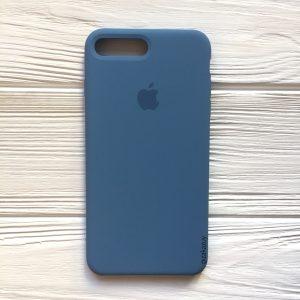 Оригинальный силиконовый чехол (Silicone case) для Iphone 7 Plus / 8 Plus (Azure) №36