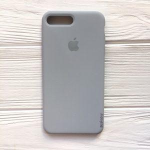 Оригинальный силиконовый чехол (Silicone case) для Iphone 7 Plus / 8 Plus (Light Blue) №33