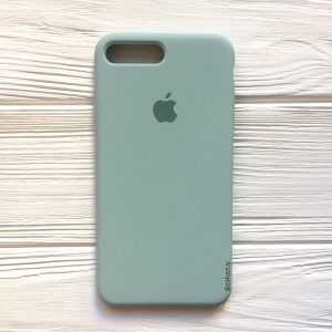 Оригинальный силиконовый чехол (Silicone case) для Iphone 7 Plus / 8 Plus (Light mint) №21