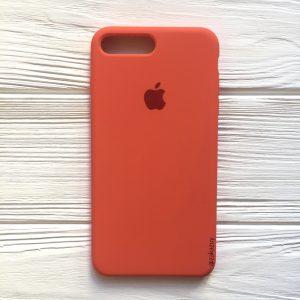 Оригинальный силиконовый чехол (Silicone case) для Iphone 7 Plus / 8 Plus (Light Orange) №11