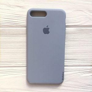 Оригинальный силиконовый чехол (Silicone case) для Iphone 7 Plus / 8 Plus (Lilac Blue) №15