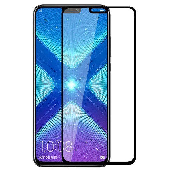 Защитное стекло 3D Full Glue (на весь экран) для Huawei Honor 8X (BLack)