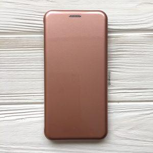 Розовый глянцевый чехол-книжка (TPU+PC) для Xiaomi Redmi 6 (Rose Gold)