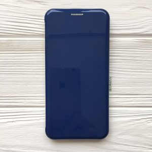 Темно-синий глянцевый чехол-книжка (TPU+PC) для Huawei P Smart Plus / Nova 3i (Dark Blue)