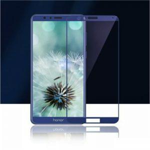 Защитное стекло 3D (Full cover) на весь экран для Huawei Honor 7X (Blue)