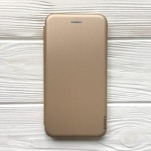 Чехол-книжка Inavi (экокожа + TPU) для Iphone XS Max (Gold)