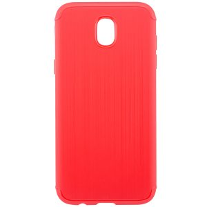 Силиконовый (TPU) чехол – бампер Metal для Samsung J330 Galaxy J3 (2017) Red