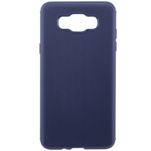 Силиконовый (TPU) чехол – бампер Metal для Samsung J510F Galaxy J5 (2016) Blue