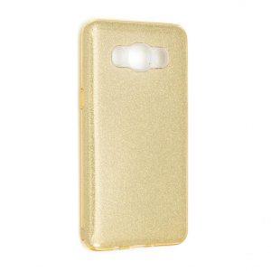 Силиконовый (TPU) чехол с блестками Shine для Samsung J510F Galaxy J5 (2016) Gold
