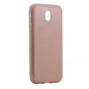 Силиконовый (TPU) чехол – бампер с блестками Shine для Samsung J730 Galaxy J7 (2017) Gold