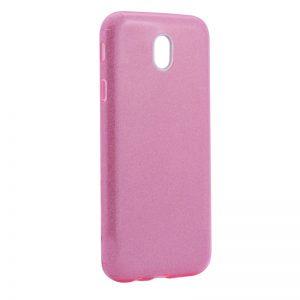 Силиконовый (TPU) чехол – бампер с блестками Shine для Samsung J730 Galaxy J7 (2017) Pink