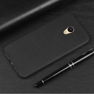 Черный матовый силиконовый (TPU) чехол (накладка) для Meizu M5c (Black)