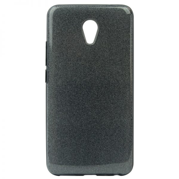 Серый силиконовый (TPU+PC) чехол (накладка) Shine с блестками для Meizu M5 (Grey)