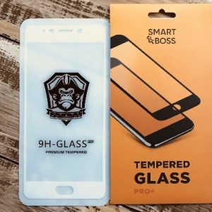 Защитное стекло 4D Full Cover (на весь экран) для Meizu M6 Note (White)