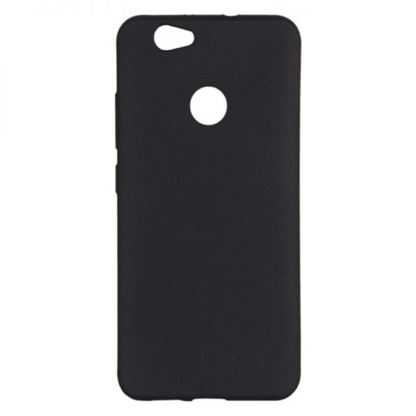 Черный пластиконый матовый чехол (накладка) Joyroom с защитой торцов для Huawei Nova (Black)