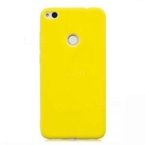 Желтый матовый силиконовый (TPU) чехол (накладка) для Huawei Y6 Pro (2017) / Nova Lite (2017) / P9 Lite mini (Yellow)
