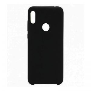 Черный оригинальный силиконовый (TPU) чехол Silicone cover с микрофиброй для Huawei P Smart Plus (nova 3i) Black
