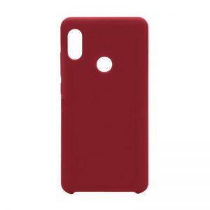 Красный оригинальный силиконовый (TPU) чехол Silicone cover с микрофиброй для Huawei P Smart Plus (nova 3i) Red