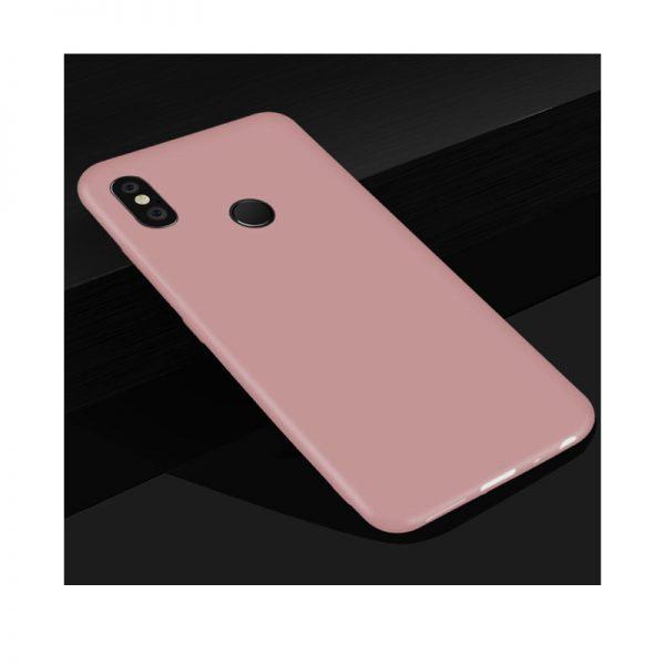 Ультратонкий матовый силиконовый чехол для Xiaomi Redmi 6 Pro / Mi A2 Lite (Pink)