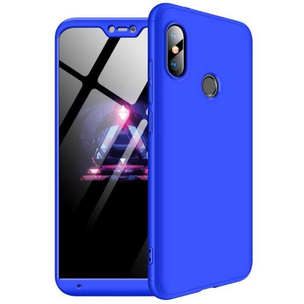Пластиковая накладка GKK LikGus 360 градусов для Xiaomi Redmi 6 Pro / Mi A2 Lite (Blue)