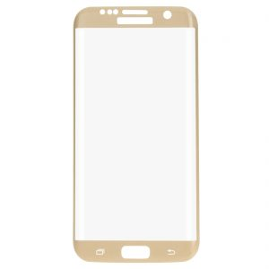 Защитное стекло 3D Full Cover (на весь экран) для Samsung G930 Galaxy S7 (Gold)