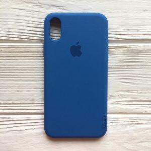 Оригинальный силиконовый чехол (Silicone case) для Iphone XS Max (Blue) №12