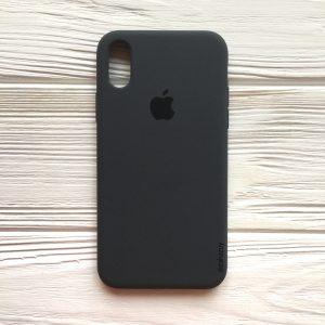 Оригинальный силиконовый чехол (Silicone case) для Iphone XS Max (Dark Grey) №37