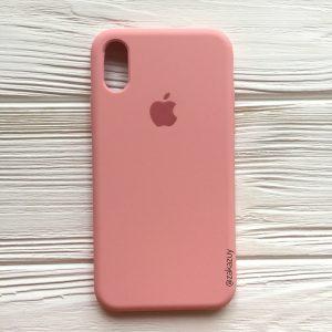 Оригинальный силиконовый чехол (Silicone case) для Iphone XS Max (Light pink) №14