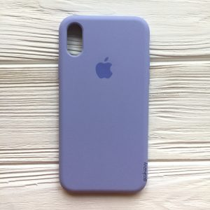 Оригинальный силиконовый чехол (Silicone case) для Iphone XS Max (Lilac) №39
