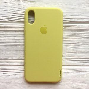 Оригинальный силиконовый чехол (Silicone case) для Iphone XS Max (Lime) №42