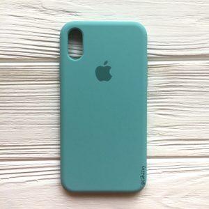 Оригинальный силиконовый чехол (Silicone case) для Iphone XS Max (Mint) №23