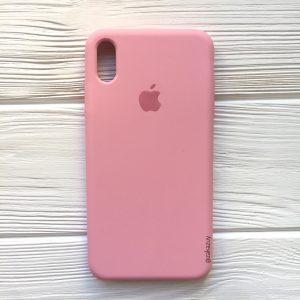Оригинальный силиконовый чехол (Silicone case) для Iphone XS Max (Pink) №35