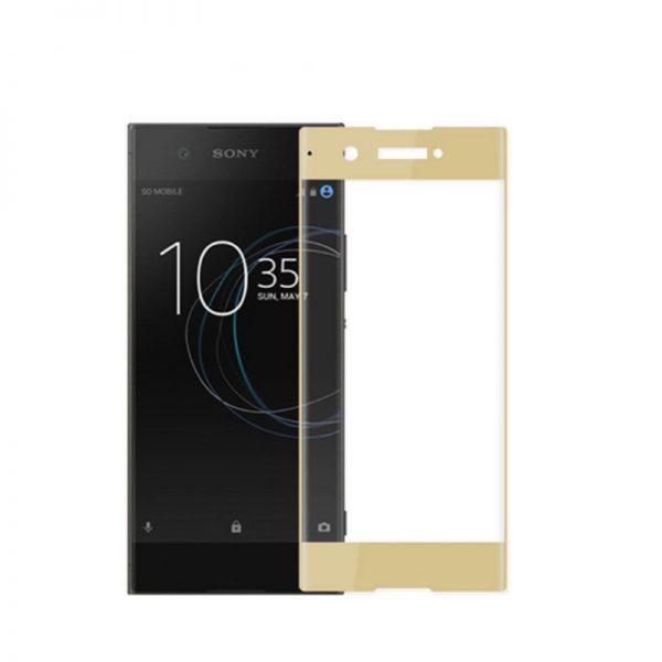 Защитное стекло 3D Full Cover (на весь экран) для Sony XA1 / XA1 Ultra (Gold)
