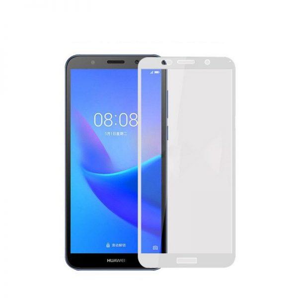 Защитное стекло 3D Full Glue (на весь экран) для Huawei Y5 (2018) / Y5 Prime 2018 / Honor 7A (White)
