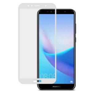 Защитное стекло 3D Full Glue (на весь экран) для Huawei  Y6 (2018) /  Y6 Prime (2018) / Honor 7A Pro / Honor 7C (White)
