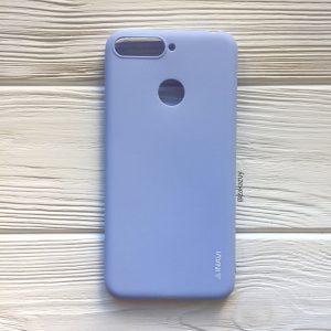 Светло-голубой матовый силиконовый (TPU) чехол (накладка) Soft Touch для Y6 Prime 2018 / Honor 7A Pro / Honor 7C (Light Blue)