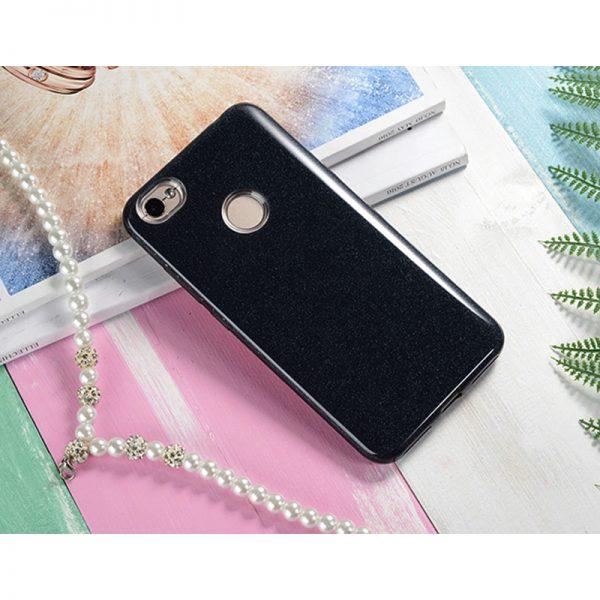 Черный силиконовый (TPU+PC) чехол (накладка) Shine с блестками для Xiaomi Redmi 4х (Black)