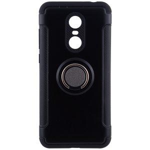 Черный противоударный (ударопрочный) чехол (бампер) Deen Verus с кольцом и креплением под магнитный держатель для Xiaomi Redmi 5 (Black)