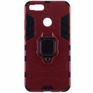 Красный противоударный (ударопрочный) TPU+PC чехол (бампер) Transformer Ring c кольцом и креплением под магнитный держатель для Xiaomi Mi 5x / Mi A1 (Red)
