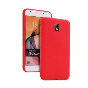 Красный матовый cиликоновый чехол (накладка) для Samsung J730 Galaxy J7 (2017) (Red)