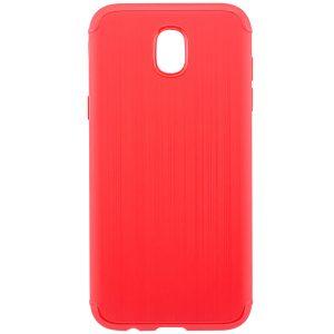 Красный cиликоновый чехол (накладка) Metal для Samsung J730 Galaxy J7 (2017) (Red)