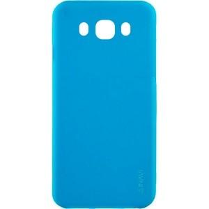 Голубой матовый cиликоновый чехол (накладка) для Samsung J710 Galaxy J7 (2016) (Blue)
