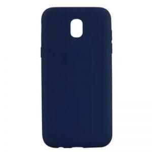 Cиний матовый cиликоновый чехол (накладка) для Samsung J730 Galaxy J7 (2017) (Navy Blue)