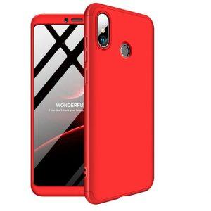 Красный матовый пластиковый чехол (бампер) GKK 360 градусов для Xiaomi Mi Max 3 (Red)