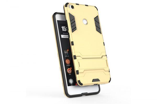 Золотой противоударный (ударопрочный) чехол (бампер) Transformer с подставкой для Xiaomi Mi Max 2 (Gold)