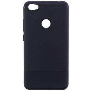 Черный силиконовый (TPU) чехол (бампер) Carbon для Xiaomi Redmi Note 5A Prime / Y1 (Black)