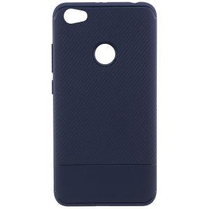 Синий силиконовый (TPU) чехол (бампер) Carbon для Xiaomi Redmi Note 5A Prime / Y1 (Navy Blue)